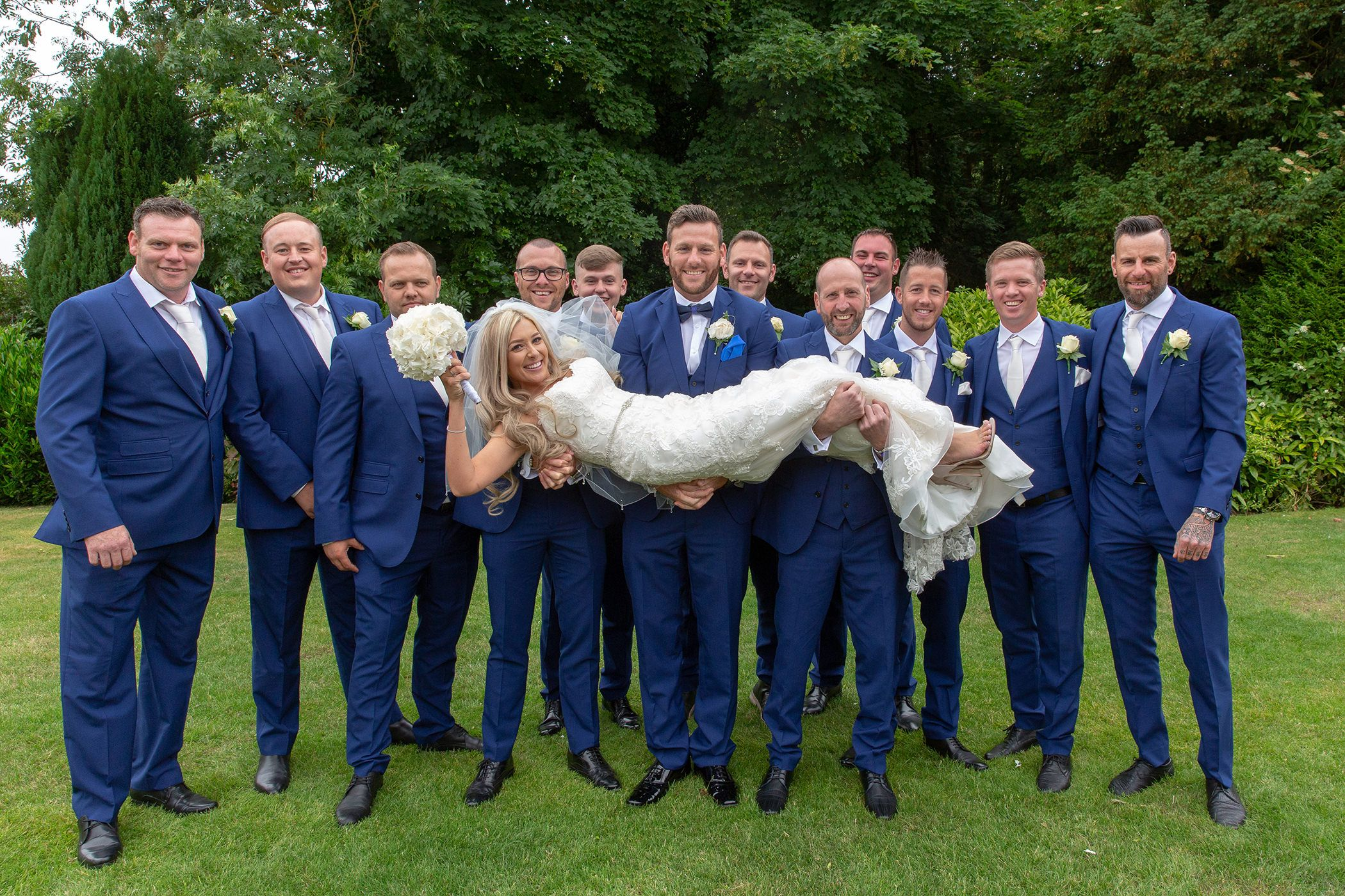 Bride and the grooms men