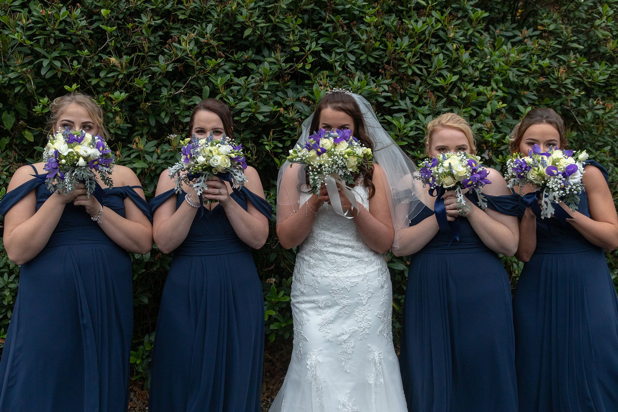 the bride and bridesmaids photo