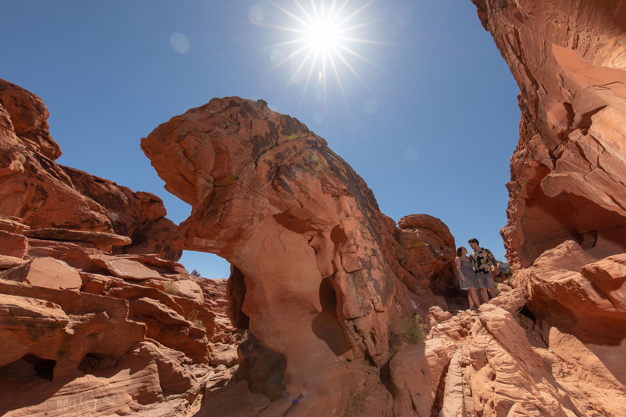 The midday sun valley of fire