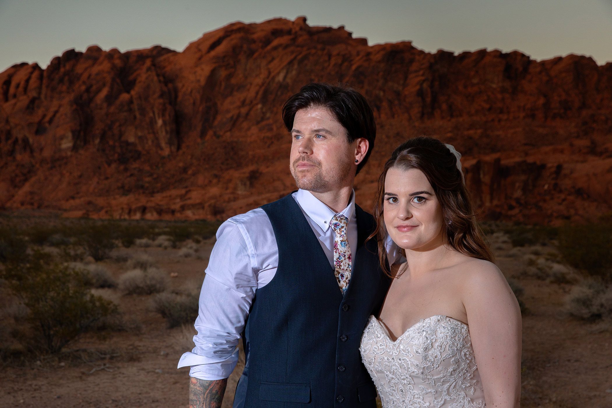 Andrew & Donna wedding valley of fire las vegas