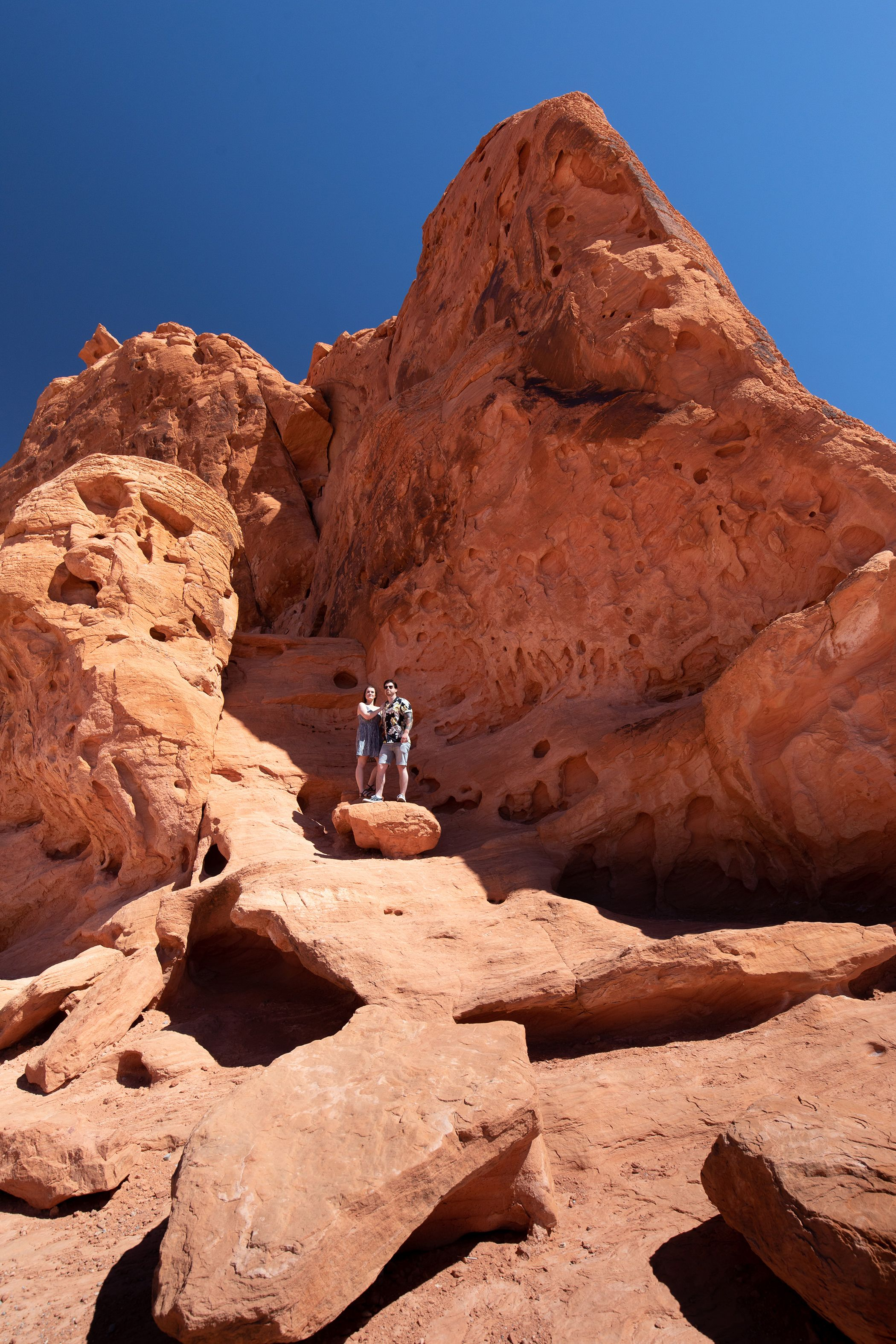 Seven sisters in the Valley Of Fire Las Vegas