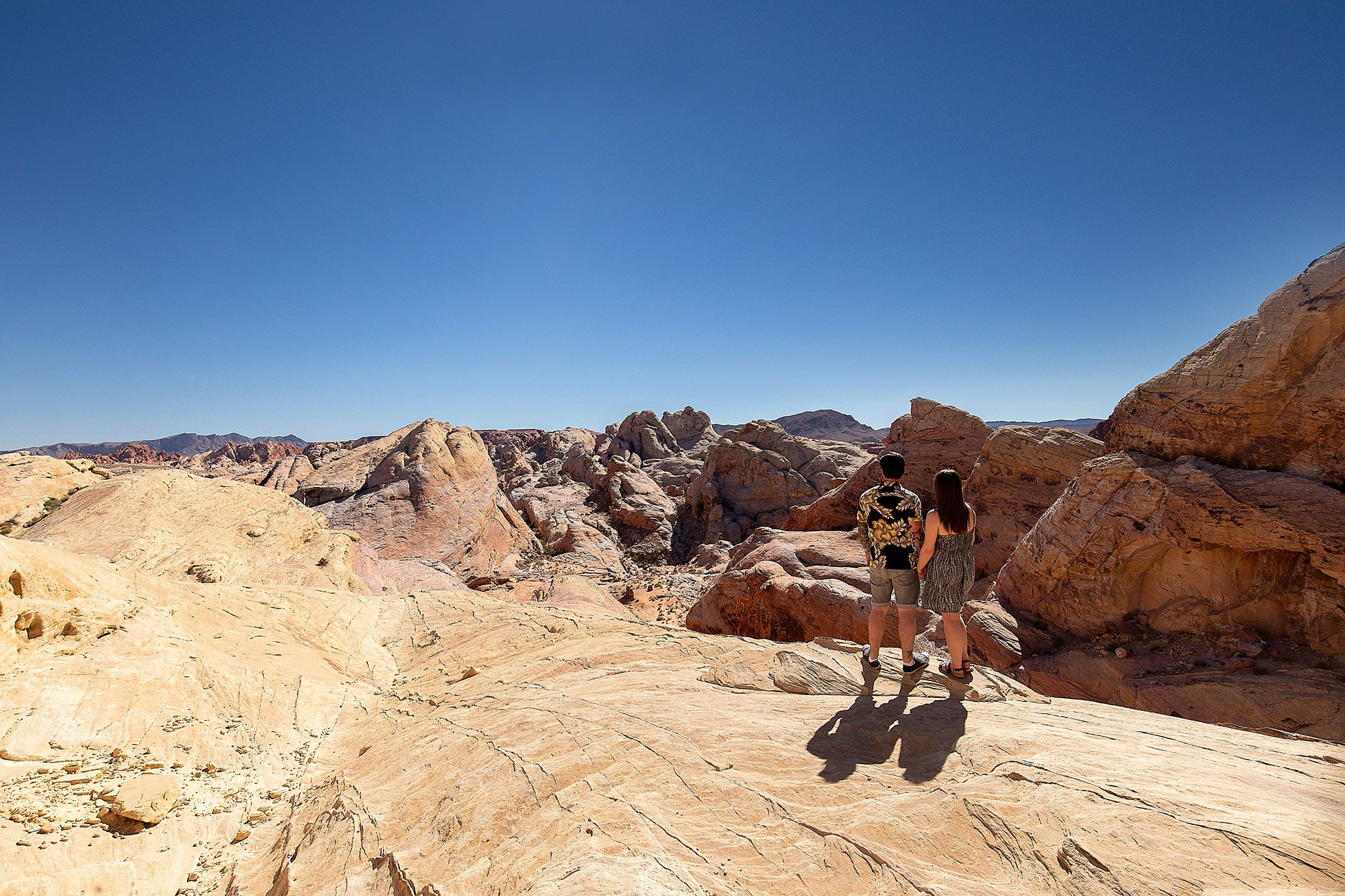 magnificent view in the valley of fire