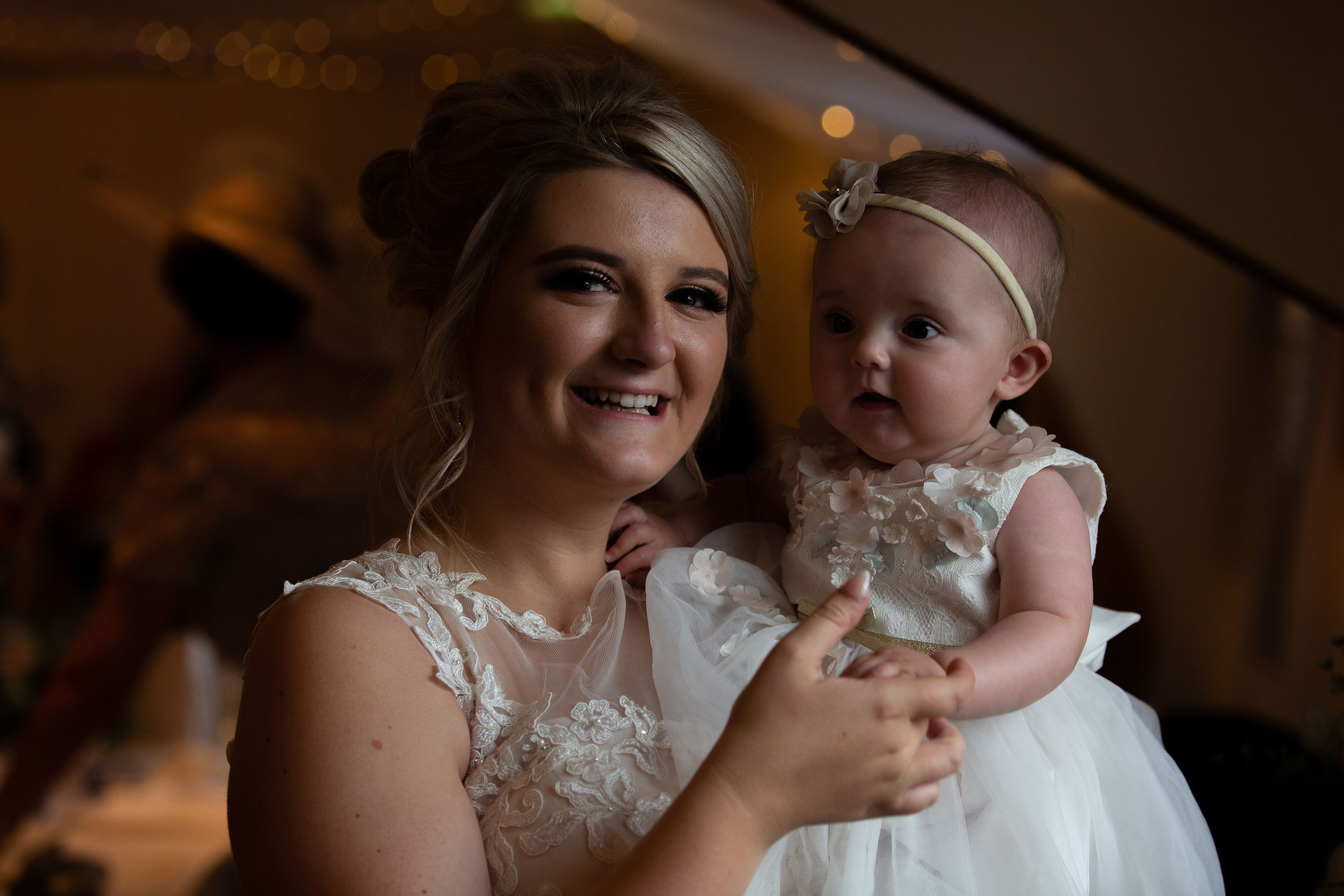 bride and the baby
