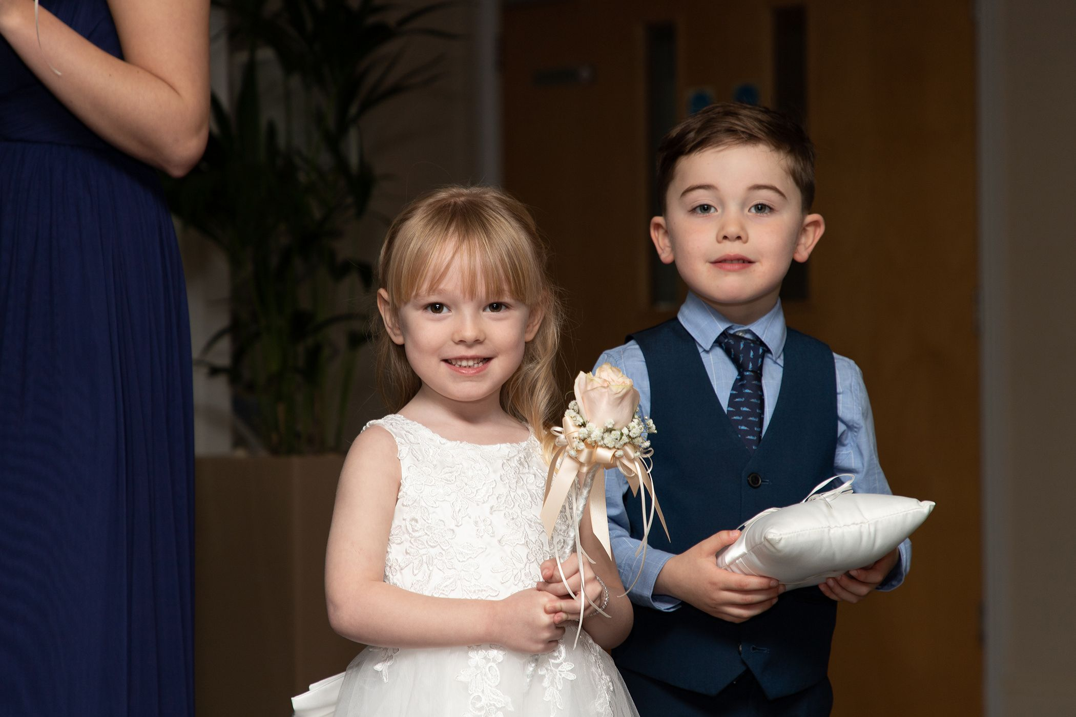 the flower girl and pageboy