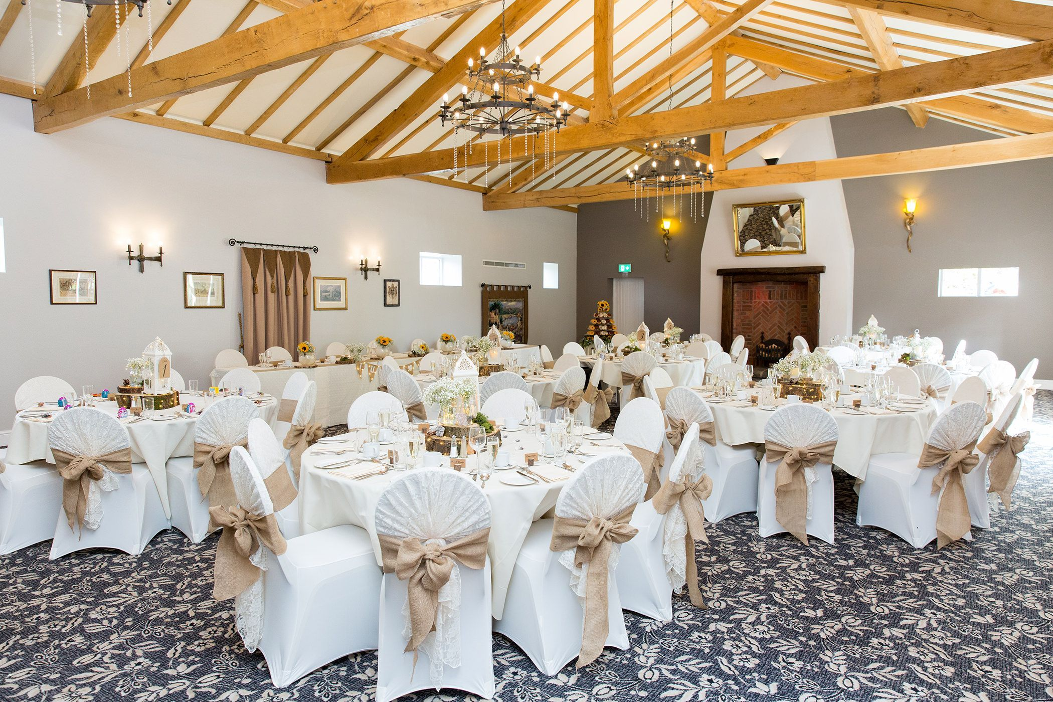 the villa wedding ceremony reception room