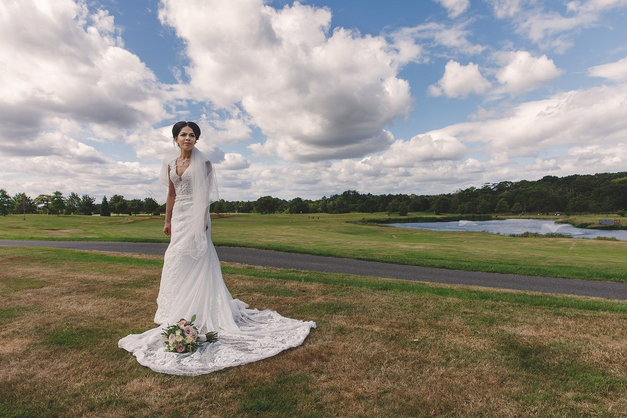 The bride at Carden Park Hotel