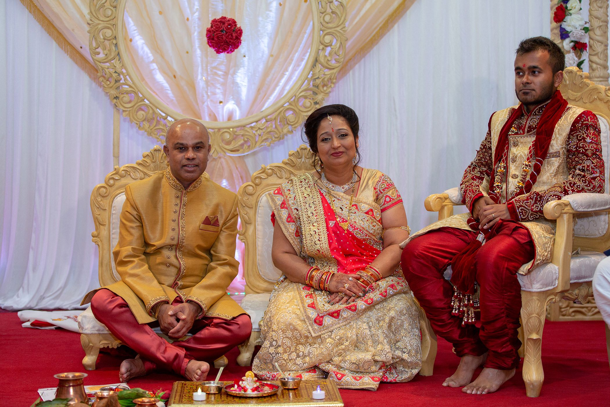 Indian wedding ceremony Carden Park Hotel