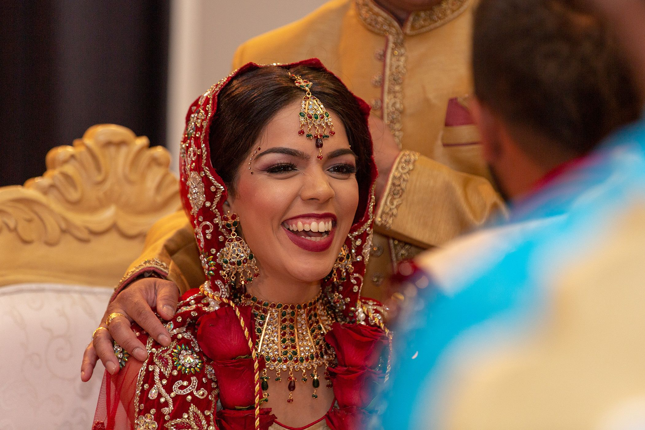 The bride enjoying Indian wedding photography