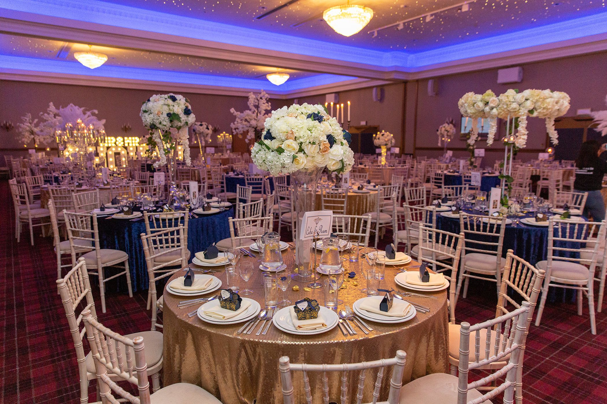 The wedding reception room
