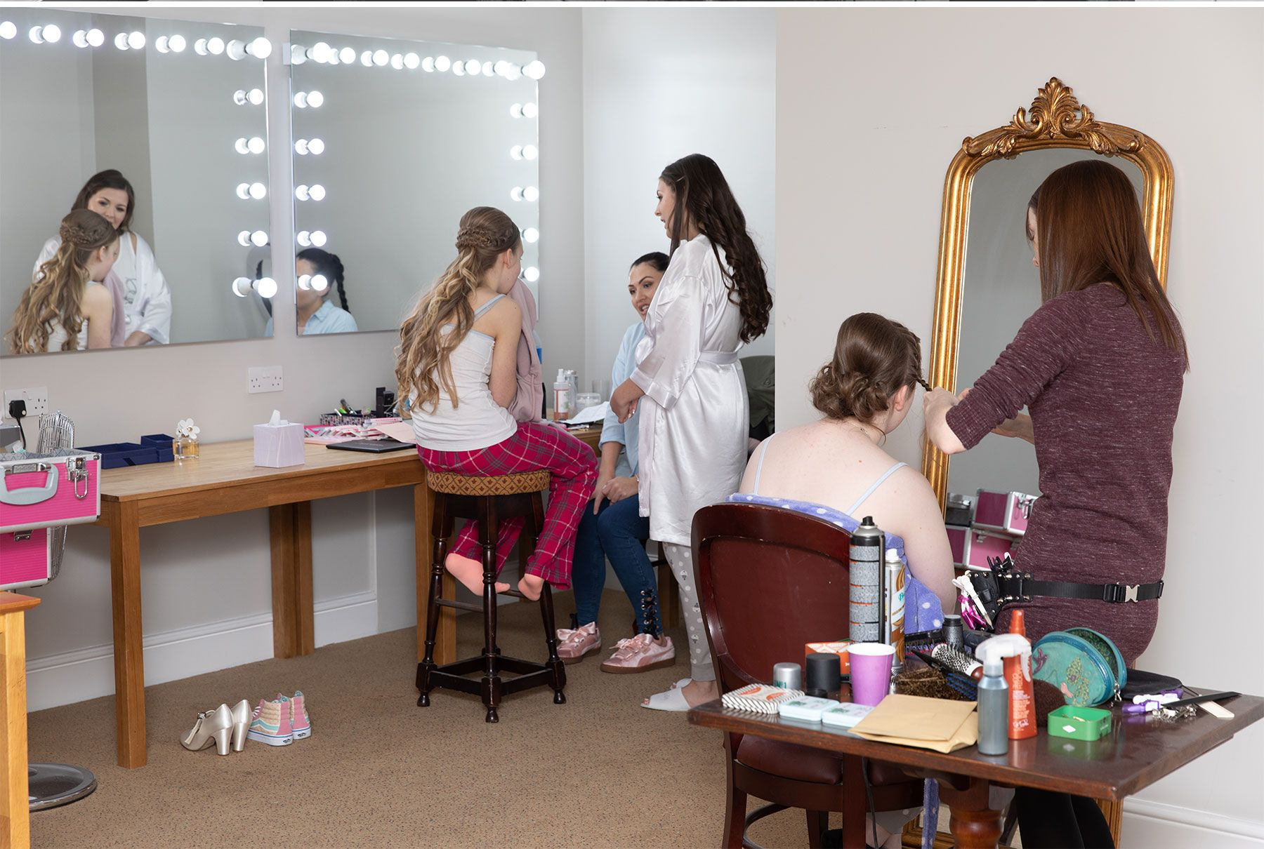 bridal room and make up