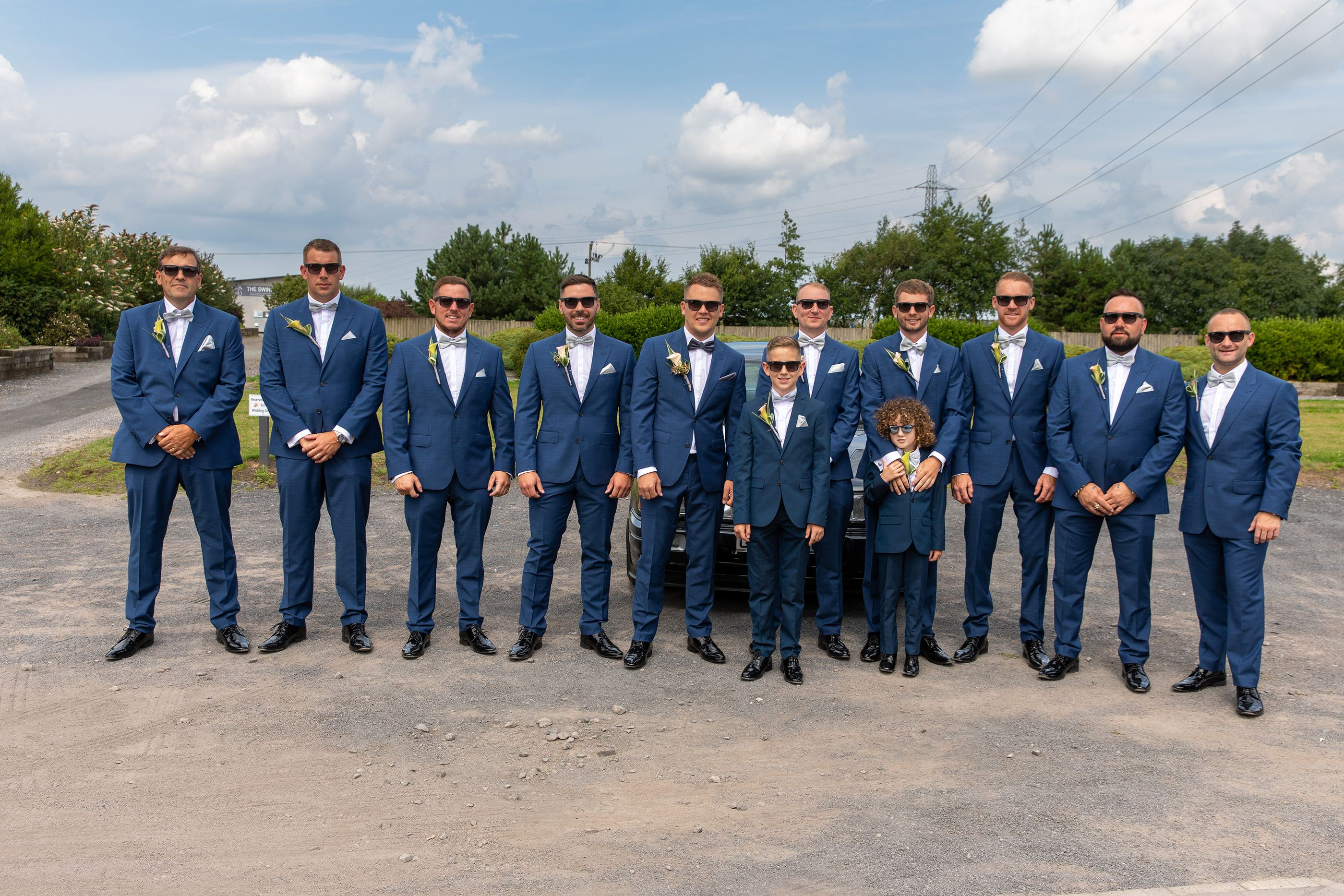 the groom and the men
