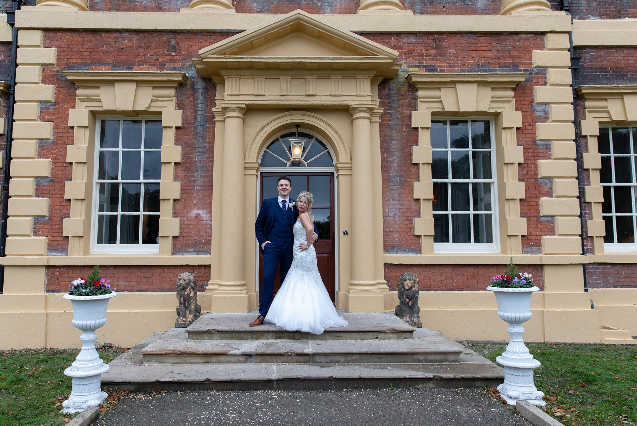 the bride and groom at Lytham Hall wedding