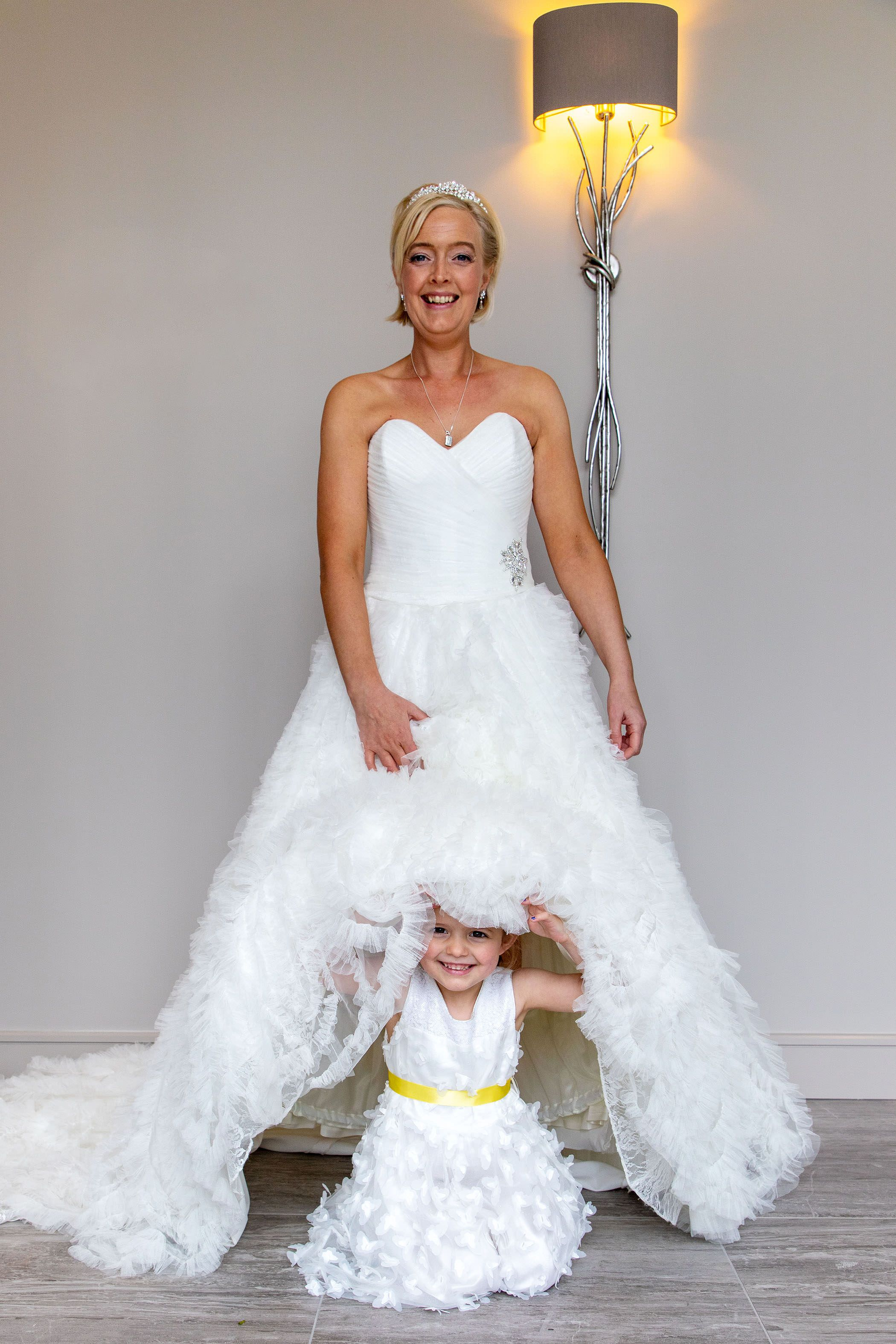 the bride and her daughter
