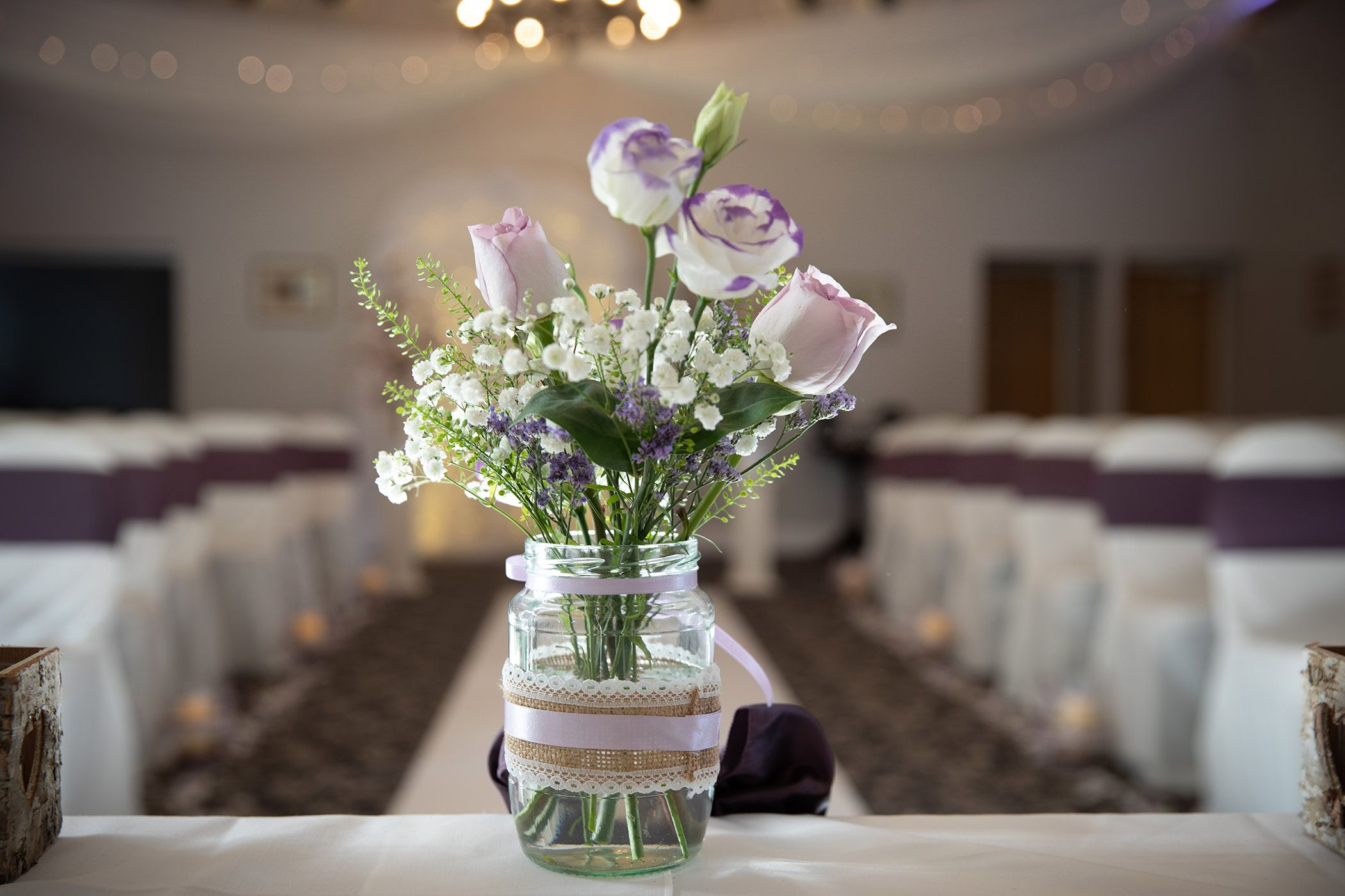 the wedding ceremony room