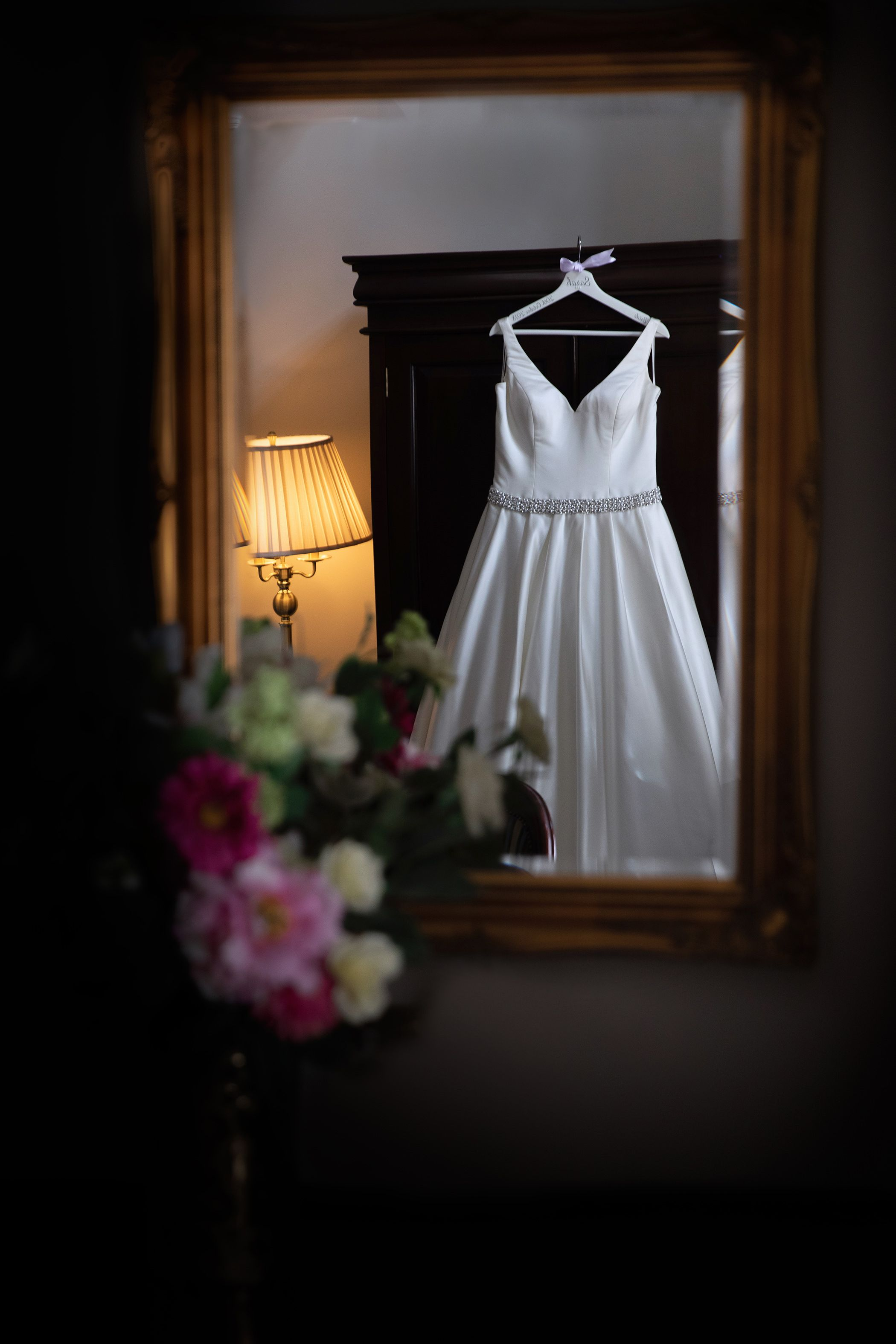 Brides wedding dress
