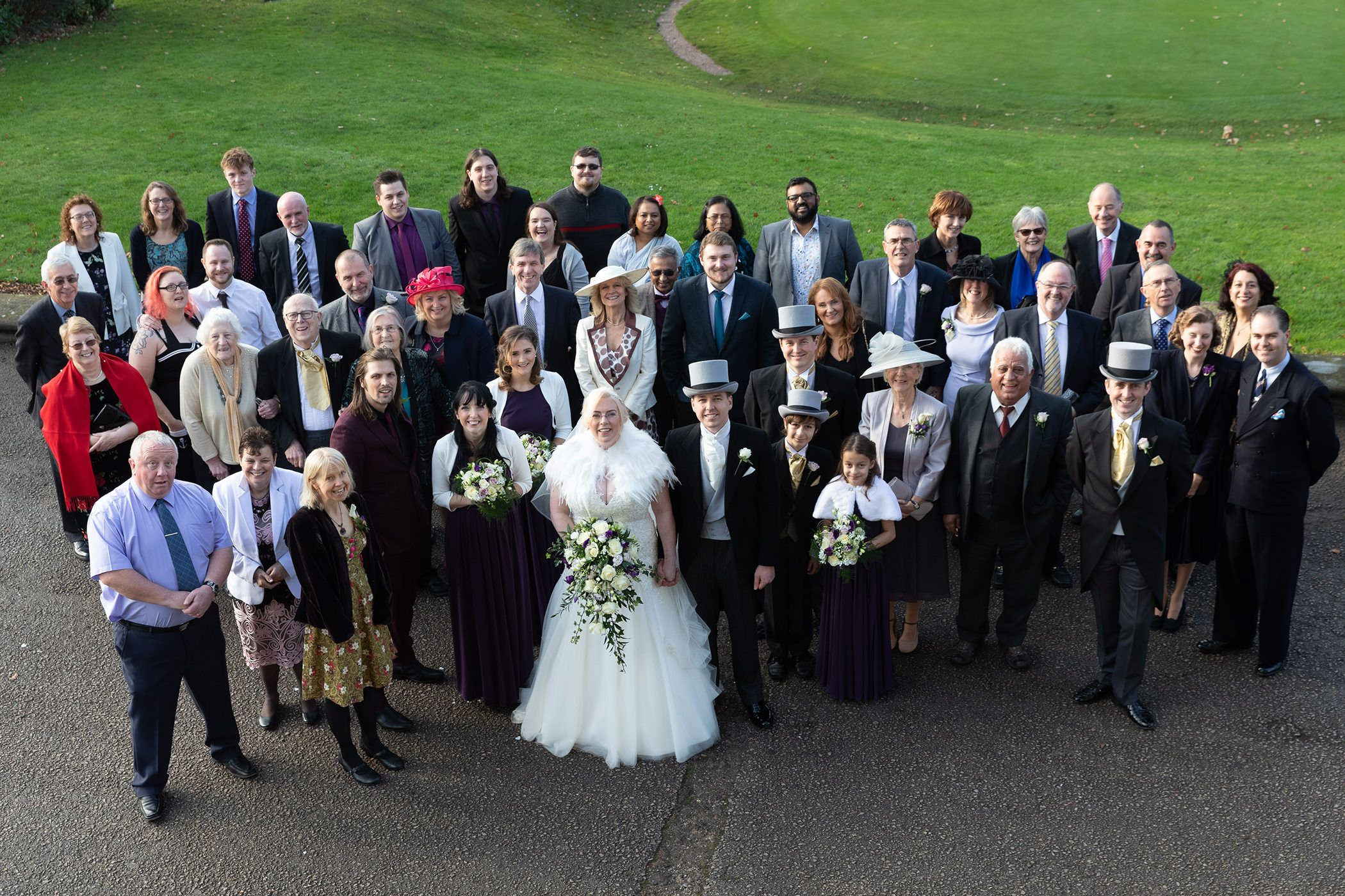 the wedding group photo
