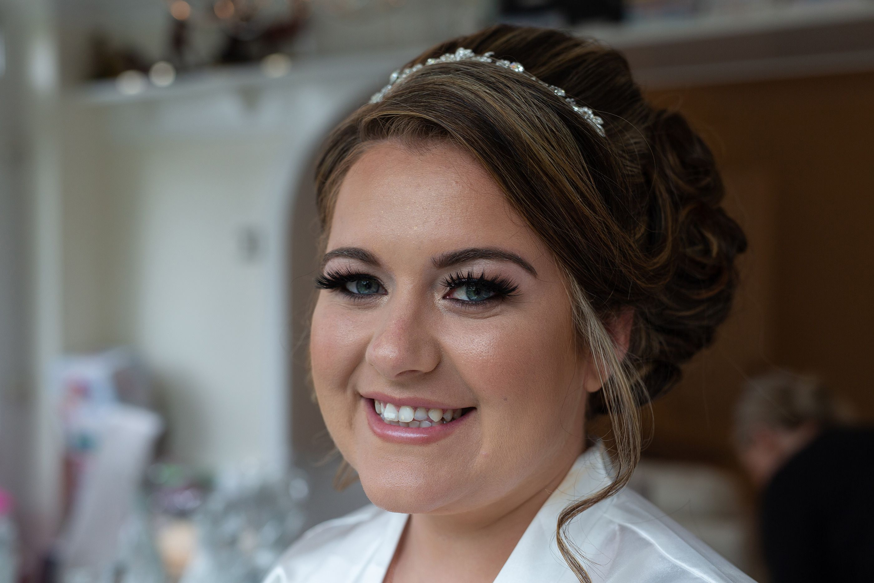 Stephanie the bride hair and make up ready