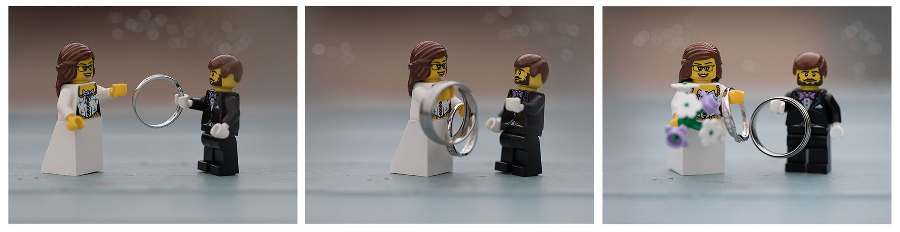 wedding rings with logo figures